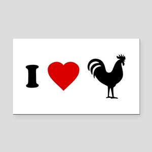 I Love [Heart] Cock Rectangle Car Magnet